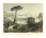 Bay of Baie, Italy Reproduction procédé giclée par William Henry Bartlett