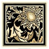 Neutral Floral Motif II Giclee Print