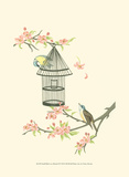 Small Birds on a Branch II Posters by Nancy Slocum