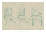Chinese Chippendale Chairs I Giclee Print