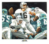 NFL Superbowl XV (Jim Plunkett) 限定版アートプリント : マーヴ・コーニング