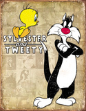 Tweety & Sylvester Retro Blikskilt