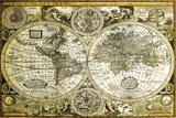 Historische wereldkaart Posters