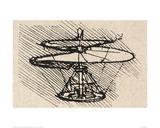 Propellor Lámina giclée por  Leonardo da Vinci