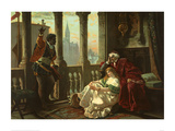 Othello Tells Desdemona and Her Father of his Adventures Giclee Print by Carl Becker