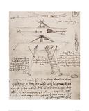 Flying Machine Drawing Giclée-Druck von  Leonardo da Vinci