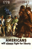Americans Will Always Fight for Liberty Poster