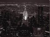 Le Chrysler Building Et L'East River Stretched Canvas Print by Michel Setboun