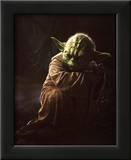 Star Wars Movie Yoda Glossy Photo Photograph Print Impressão fotográfica emoldurada