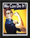 Rosie the Riveter (Female Worker - World War II) Art Poster Print Posters