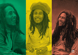Bob Marley - Rasta Collage Kunstdruck