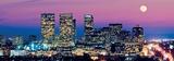 Los Angeles Skyline at Dusk Poster by Konstantin Sutyagin