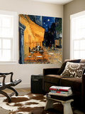 Caféterras bij nacht Poster van Vincent van Gogh