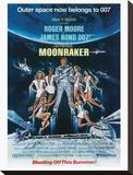 James Bond, Moonraker Reproducción de lámina sobre lienzo