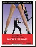 James Bond, Solo para sus ojos Reproducción de lámina sobre lienzo