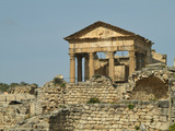 Capital, Dougga Roman Ruins, Tunisia Stampa fotografica di Gary Cook