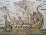 Mosaics in the Bardo National Museum, Tunis, Tunisia Stampa fotografica di Gary Cook