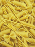A Selection of Popular Pasta Shapes Fotografisk tryk af Wally Eberhart