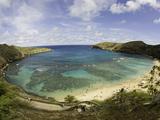The Hanauma Bay Nature Preserve Is Coastal and Marine Preserve Located on Southeast Oahu Fotografie-Druck von David Fleetham