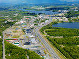 Aerial View of Downtown Wasilla, Alaska, USA Fotografisk tryk af Paul Andrew Lawrence