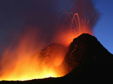 Lavflow from the Base of Hornito on Mount Etna Volcano During the 2006 Eruption Photographic Print by Richard Roscoe