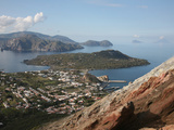 View from the Flank of Vulcano Volcano to Lipari and Other Eolian Islands, Italy Photographic Print by Richard Roscoe
