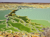 Dallol Geothermal Brine Hot Springs, Salt Terraces, and a Salt Lake, Ethiopia Photographic Print by Richard Roscoe