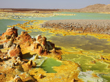 Dallol Geothermal Brine Hot Springs, Ethiopia Photographic Print by Richard Roscoe