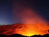 Erta Ale Volcano Lava Lake in the Incandescent Glowing Crater, Ethiopia Photographic Print by Richard Roscoe