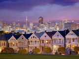 Alamo Square and the Victorian Style Painted Ladies Homes, San Francisco, California, USA Photographic Print by Patrick Smith