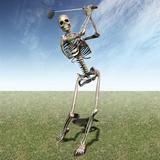 Skeleton Golfing Reproduction photographique par Carol & Mike Werner