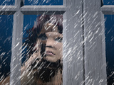 Person Looking Out of a Window on a Rainy Day Reproduction photographique par Carol & Mike Werner