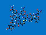 Oxytocin Molecule Fotografisk tryk af Carol & Mike Werner