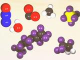 Molecular Models of the Major Greenhouse Gases Lámina fotográfica por Carol & Mike Werner
