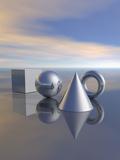 Geometric Solids Reproduction photographique par Carol & Mike Werner