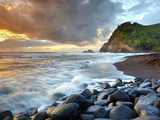 Coast of Pololu Valley, Big Island, Hawaii, USA Photographic Print by Patrick Smith
