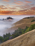 Fog Bank over San Francisco Bay Viewed from Mt. Tamalpais, California, USA Photographic Print by Patrick Smith