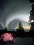 Aurora Borealis, Northern Lights, Alaska Mountain Range, Alaska, North America, USA Reproduction photographique par Tom Walker