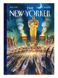 The New Yorker Cover - March 25, 2002 Exklusivt gicléetryck av Carter Goodrich