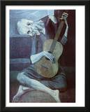 Pablo Picasso Old Guitarist Art Print Poster Poster