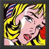 Menina com laço no cabelo, c.1965 Posters por Roy Lichtenstein