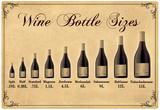 Wine Bottle Size Chart Poster