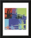Brooklyn Bridge, c.1983 (Orange, Blue, Lime) Print by Andy Warhol