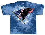 Patriotic Flying Eagle T-skjorter
