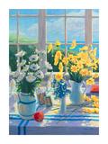 Marguerites jaunes Poster par Suzanne Hoefler
