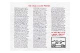 The Chunk Called Poetry Lámina giclée por Keith Haring