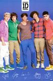 One Direction Signatures Blue Láminas