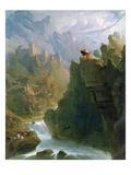 The Bard, c.1817 Reproduction procédé giclée par John Martin