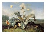 The Burdock Bush Giclée-tryk af Otto Marseus Van Schrieck
