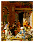 And the Prayer of Faith Shall Save the Sick', from James 5:15 (Oil on Panel) Giclée-tryk af John Frederick Lewis